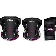 Kit Proteção Fila Junior - Preto/Pink