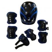 Kit Proteção Infantil TYT 48 ao 52 - Preto/Azul