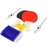 Kit Tênis de Mesa Com Rede Suporte 2 Raquetes +3 Bolinhas