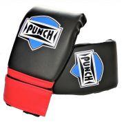 Luva Bate Saco Velcro  Punch - Preto e Vermelho
