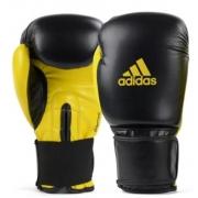 Luva de Boxe Adidas Power 100 - Preto/Amarelo