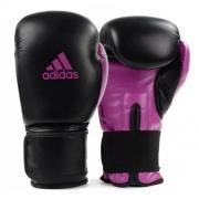 Luva de Boxe Adidas Power 100 - Preto/Roxo