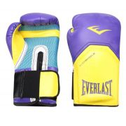 Luva de Boxe Everlast Pro Style Elite Training 12 OZ - Roxa e Amarela