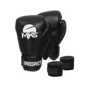 Luva de Boxe MKS Preto + Bandagem + Protetor bucal