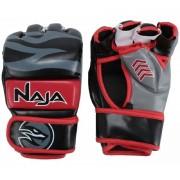 Luva de MMA Naja New Extreme preto e vermelho