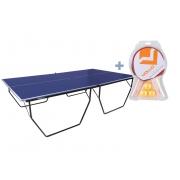Mesa de Ping Pong / Tênis de Mesa Dobrável Oficial Procópio com Rodas MDP 15mm Rede e Suporte + Kit