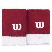 Munhequeira Wilson Longa  Wristband - Vermelho/Branco