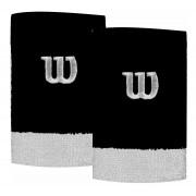 Munhequeira Wilson W Color Preto e Branco 2 Unidades