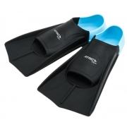 Nadadeira Para Natação Silicone Atrio - Azul/Preto