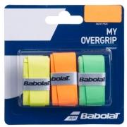 Overgrip Babolat My Overgrip X3 - Amarelo/Laranja/Verde