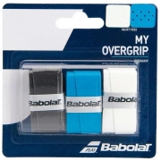 Overgrip Babolat My Overgrip X3 - Branco/Azul/Preto