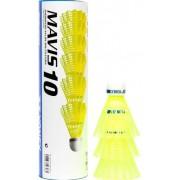 Peteca de Bedminton Nylon Mavis 10 C/6 Unidades