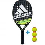 Raquete de Beach Tennis Adidas Adipower H14 - Verde + 3 Bolas