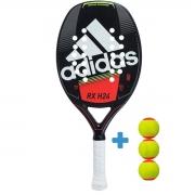 Raquete de Beach Tennis Adidas RX H24 - Vermelha + 3 Bolas