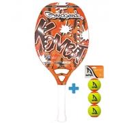 Raquete Beach Tennis Quicksand Kombat 2021+ Brinde 3 Bolas