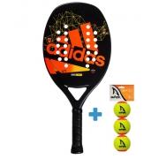 Raquete de Beach tennis Adidas ADI BT V7  - Laranja + Brinde 3 Bolas