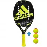Raquete de Beach Tennis Adidas Adipower Lite H14 - Verde + 3 Bolas