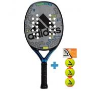 Raquete de Beach Tennis Adidas Essnova CTRL 2.0 - Cinza/Azul + Brinde 3 Bolas