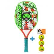 Raquete de Beach Tennis Quicksand Ninja Star 2021 + Brinde 3 Bolas