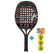 Raquete de Beach Tennis Quicksand Nolook Black 2021 + Brinde 3 Bolas