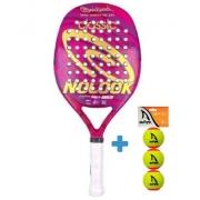 Raquete de Beach Tennis Quicksand Nolook Classic 2021 + Brinde 3 Bolas