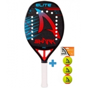 Raquete de Beach Tennis Shark Elite 2021 + Brinde 3 Bolas