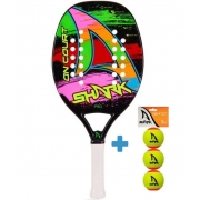 Raquete de Beach Tennis Shark On Court 2021 + Brinde 3 Bolas