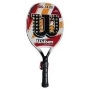 Raquete de Beach Tennis Wilson 18.20 - Branco/Vermelho