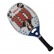 Raquete de Beach Tennis Wilson jr Dog - Branco/Vermelho