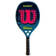 Raquete de Beach Tennis Wilson Sunset - Azul/Rosa