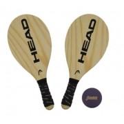 Kit de Frescobol Head com 2 Raquetes com Capa + Bola Penn Roxa