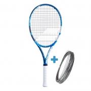 Raquete de Tênis Babolat EVO Drive - Azul/Branco + Brinde Corda