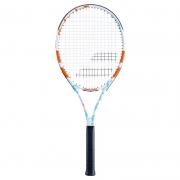 Raquete de Tênis Babolat Evoke 102 - Branca/Azul/Laranja