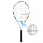 Raquete de Tênis Babolat Evoke 102 Branca/Azul/Laranja - Encordoada