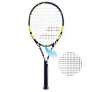 Raquete de Tênis Babolat Evoke 102  Preta/Branca/Amarela - Encordoada