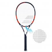 Raquete de Tênis Babolat Evoke 105 Preto/Vermelho - Encordoada