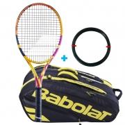 Raquete de Tênis Babolat Pure Aero Rafa 2021 + Raqueteira X12 e Corda