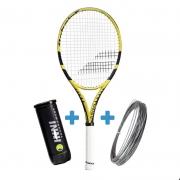 Raquete de Tênis Babolat Pure Aero Lite Edicão Limitada 270g + Corda e Bola de Brinde