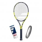 Raquete de Tênis Babolat Pure Aero VS + Bola e Corda