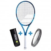 Raquete de Tênis Babolat Pure Drive Team 2021 + Corda e Bola de Brinde *Lançamento*