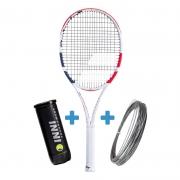 Raquete de Tênis Babolat Pure Strike 16x19 New 2020 + Bola e Corda