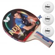 Raquete de tenis de Mesa Butterfly Caneta RDJ CS-2 - Wong Chun Ting + Brinde 3 Bolinhas