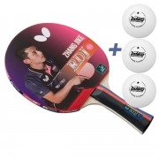 Raquete de tenis de Mesa Butterfly RDJ S1 - Zhang Jike + Brinde 3 Bolinhas
