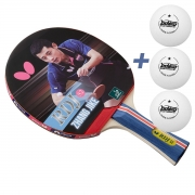 Raquete de tenis de Mesa Butterfly RDJ S2 - Zhang Jike + Brinde 3 Bolinhas