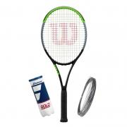 Raquete de Tênis Wilson Blade 100UL V7 + Bola e Corda