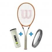Raquete De Tênis Wilson Blade 98 16X19 Roland Garros + Corda e Bola