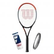 Raquete de Tênis Wilson Clash 100L + Bola e Corda