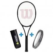 Raquete de Tenis Wilson Pro Staff 97 v13 *LANÇAMENTO* + Corda e Bola de Brinde