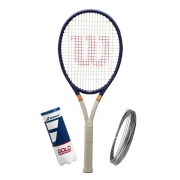 Raquete De Tênis Wilson Ultra 100 Roland Garros 2021+Brinde Corda e Bola