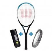 Raquete de Tênis Wilson Ultra 100 V3 + Corda e Bola de Brinde